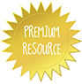 PREMIUM RESOURCE Starburst Badge GOLD